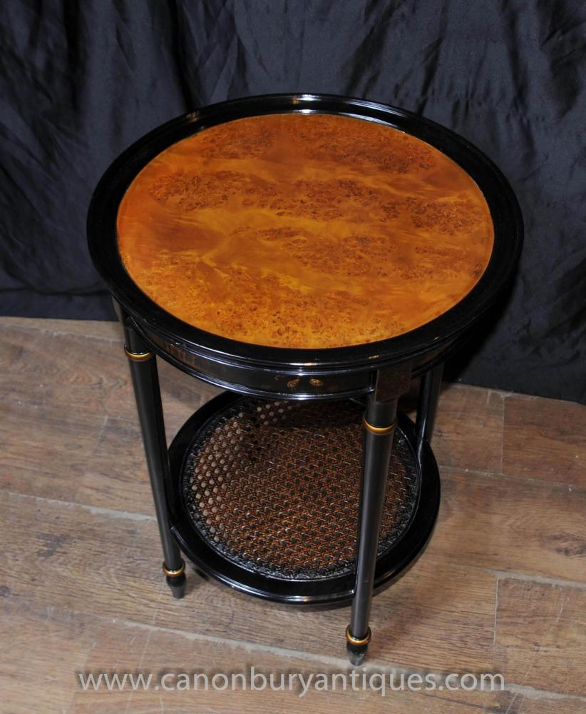 Black Lacquer Coffee Table Uk: French Black Lacquer Side Cocktail Table Chinoiserie