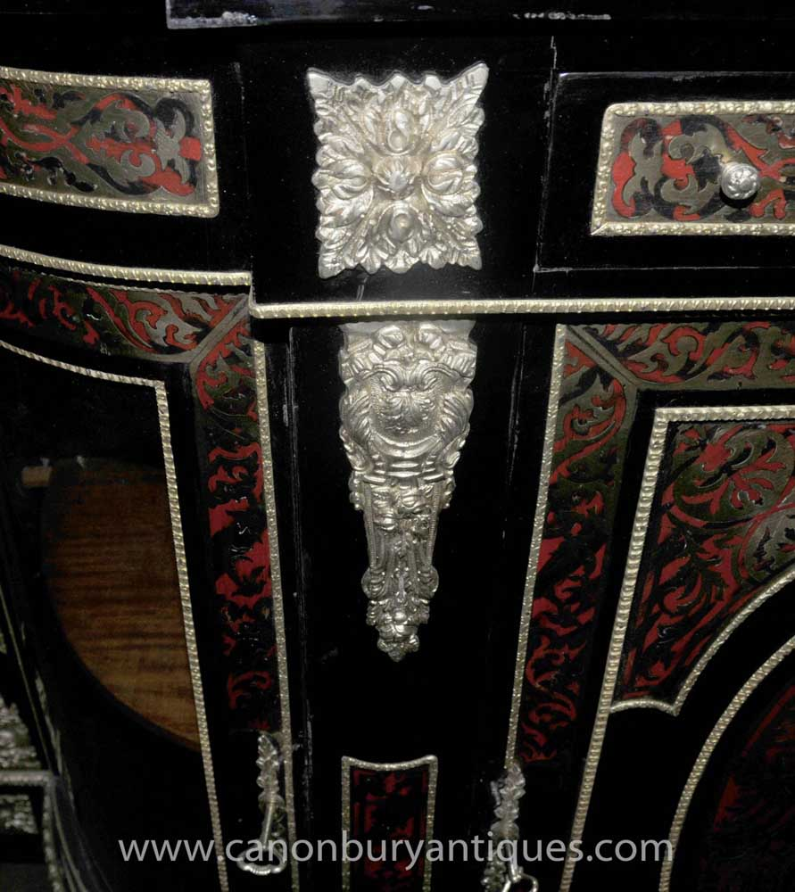 French Boulle Cabinet Sideboard Buhle Inlay