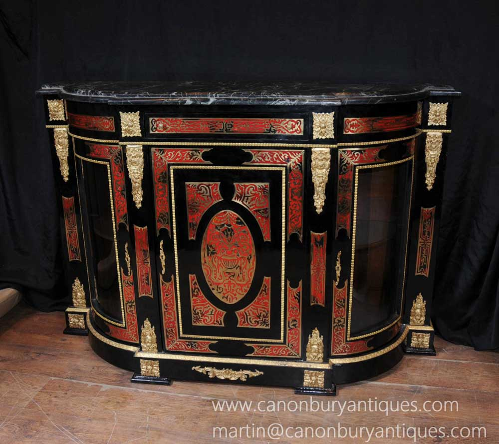 French Boulle Inlay Credenza Sideboard Louis Xv Furniture