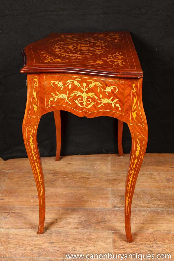 French Empire Console Table Hall Tables Marquetry Inlay