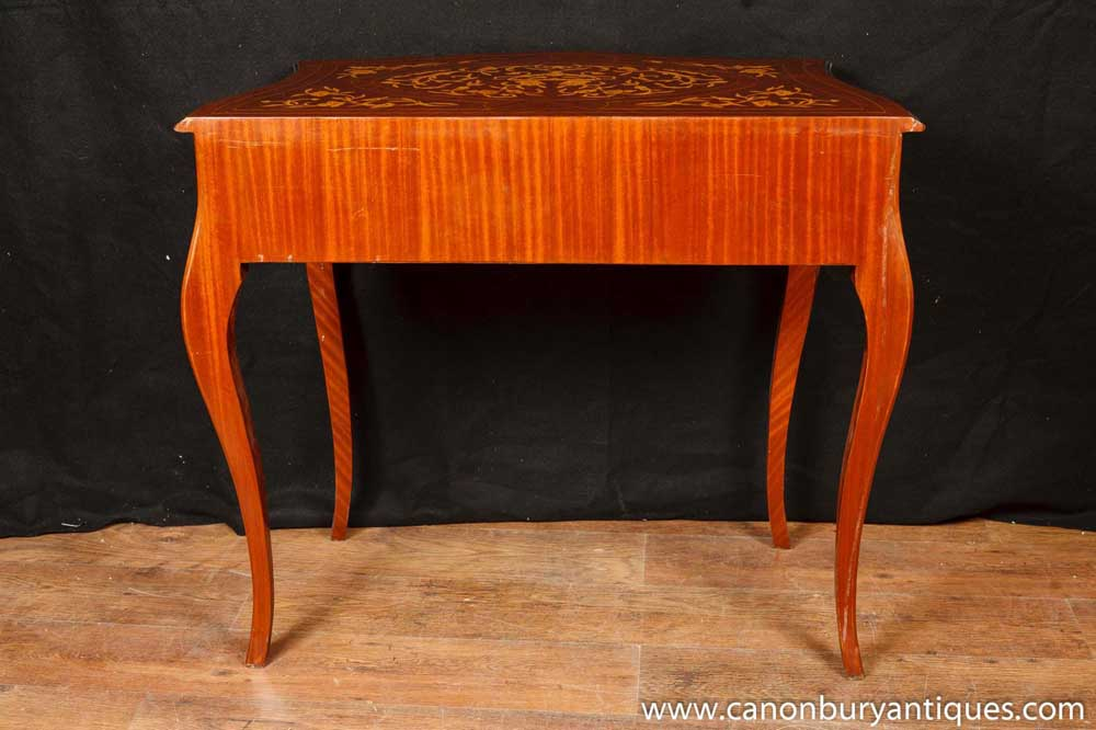 Captivating French Empire Console Table Hall Tables Marquetry Inlay Furniture | EBay