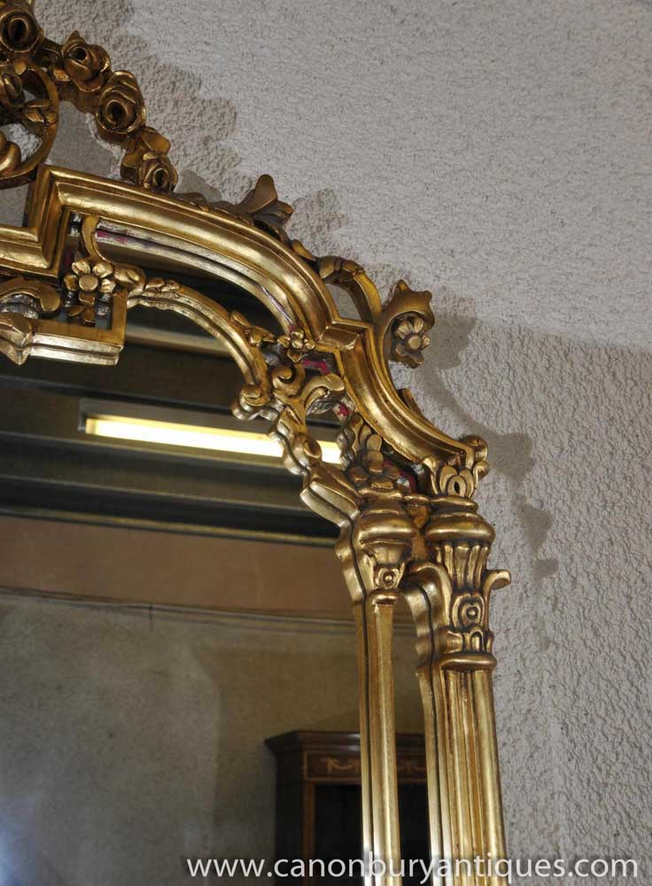 French Empire Gilt Console Table And Mirror Set Demi Lune