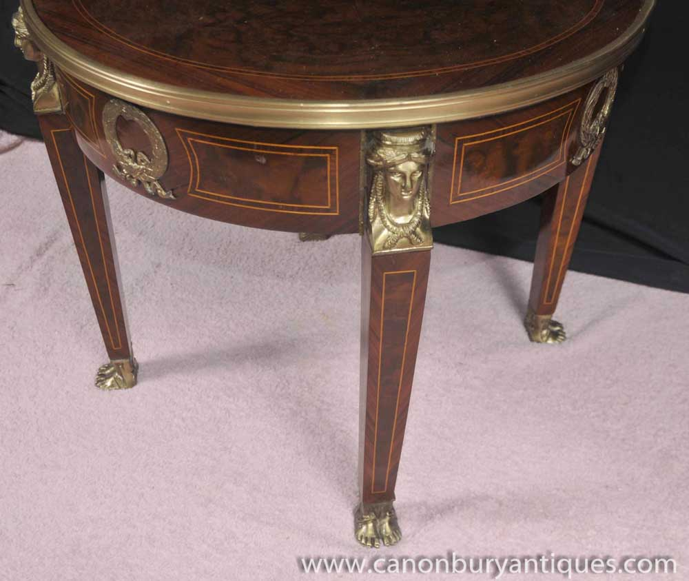 French empire side table round cocktail tables ebay for 12 inch round side table