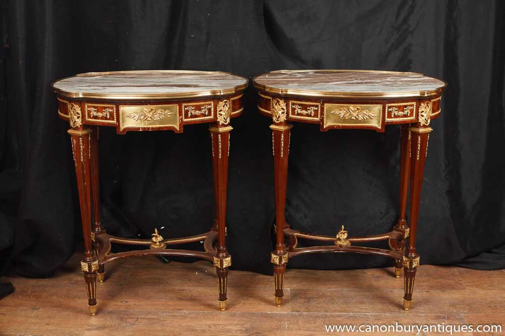 French French Empire Side Occasional Tables Ormolu Furniture