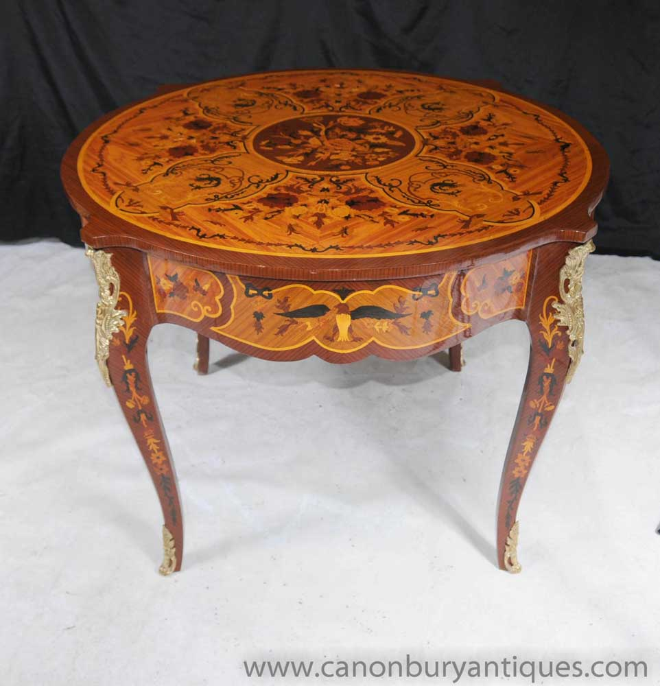 French Rococo Coffee Table: French Rococo Empire Round Centre Table Dining Tables