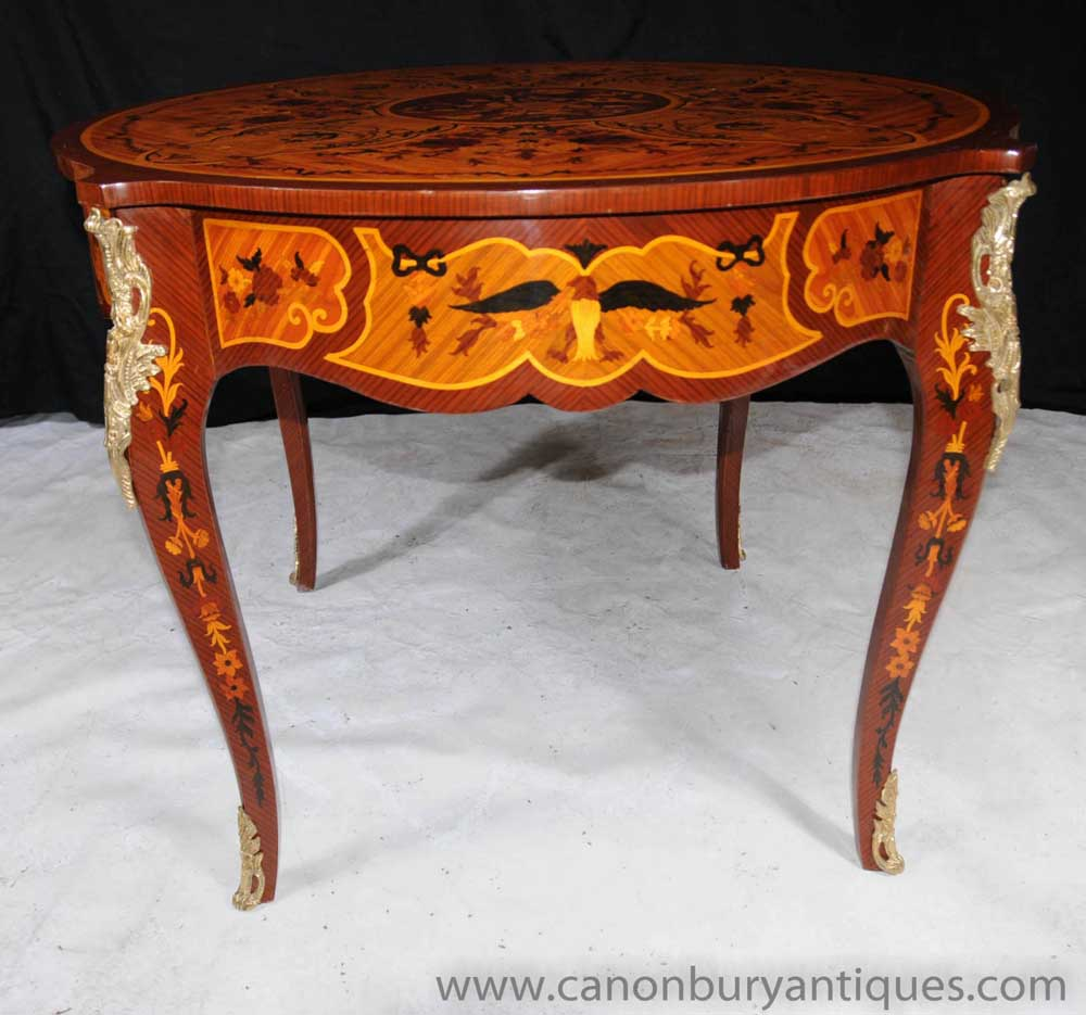 French Rococo Empire Round Centre Table Dining Tables