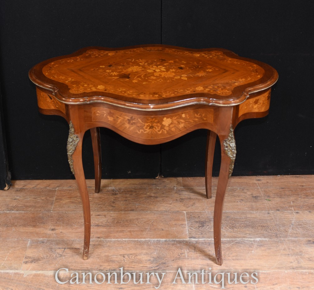 French Antique Desk Writing Table Rococo Furniture