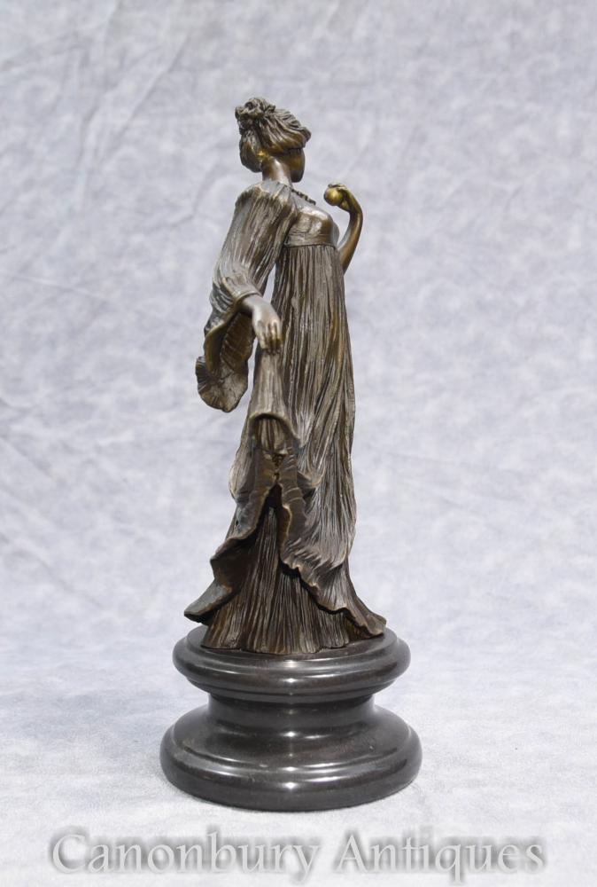 french art nouveau bronze figurine statue casting. Black Bedroom Furniture Sets. Home Design Ideas