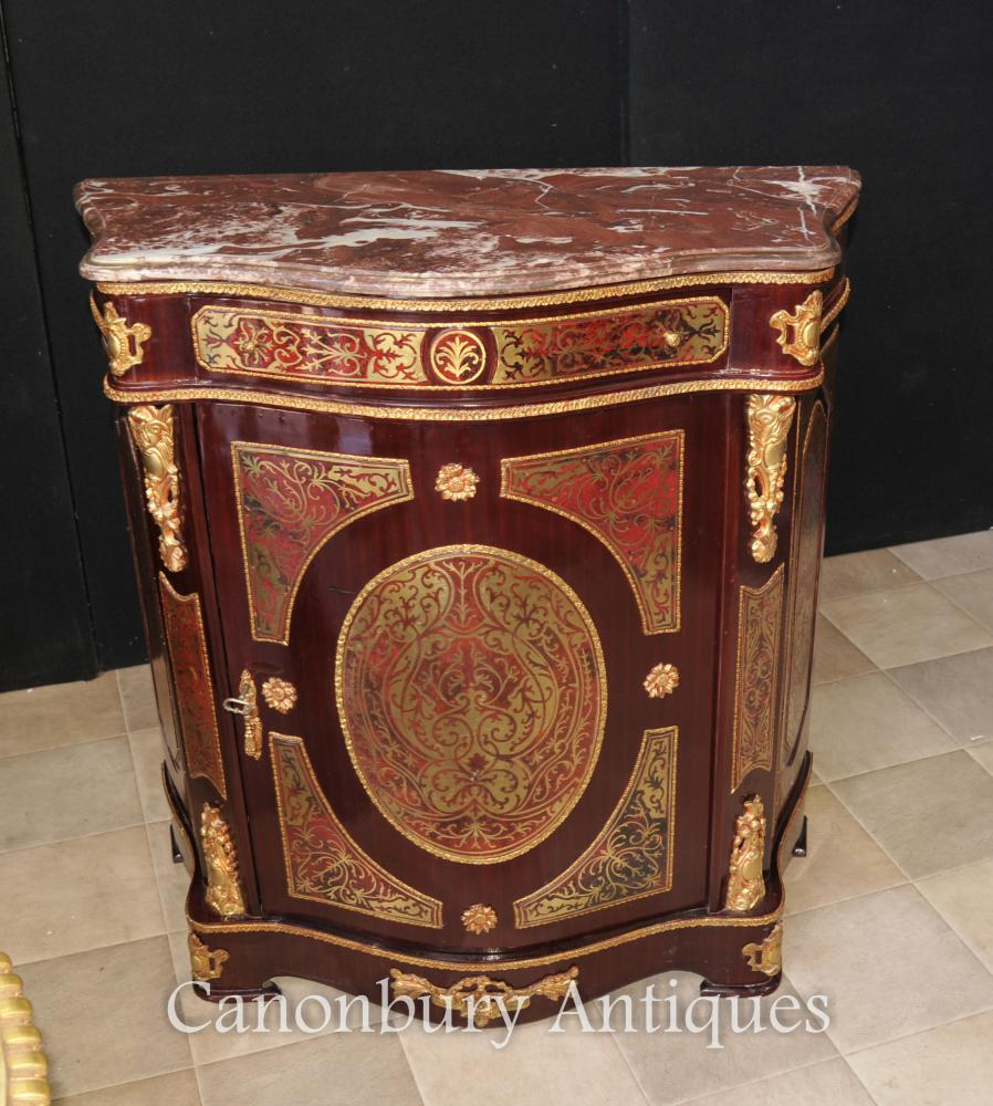 french boulle inlay cabinet and mirror stand credenza dressing table. Black Bedroom Furniture Sets. Home Design Ideas