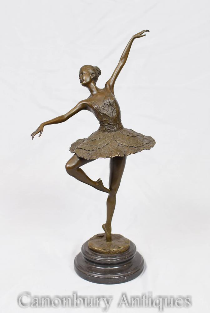 French Bronze Ballet Dancer Degas Casting Ballerina Statue ...
