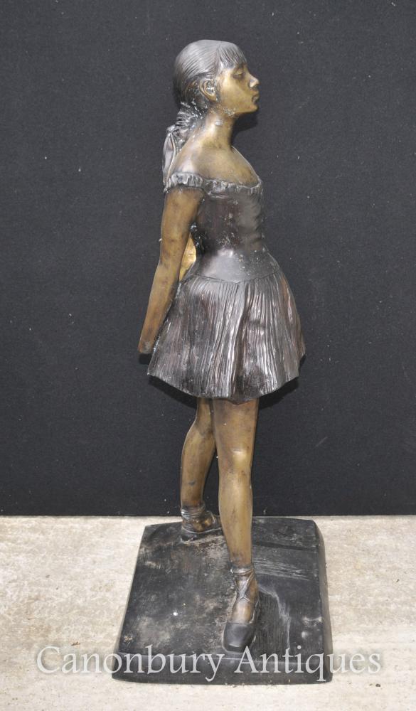 French Bronze Ballet Dancer Statue Degas Ballerina Sculpture