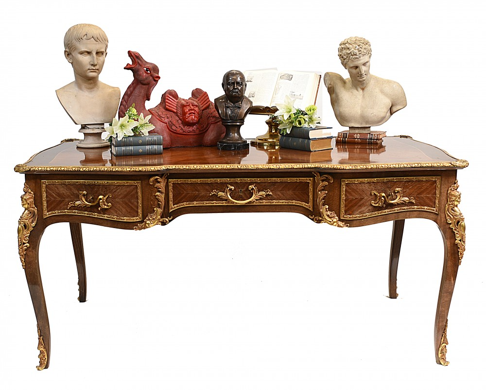 French Bureau Plat Antiker Schreibtisch Schreibtisch Empire