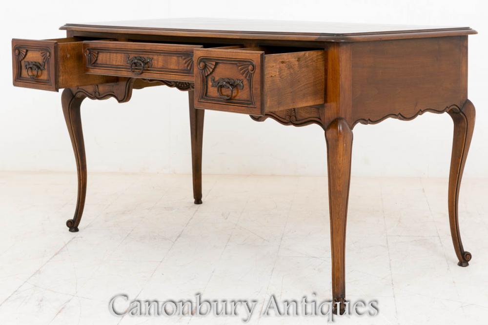 French Cherry Wood Bureau Desk Writing Table 1890