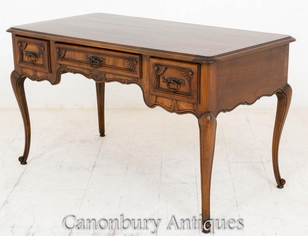 French cherry wood bureau desk writing table 1890 for Bureau table
