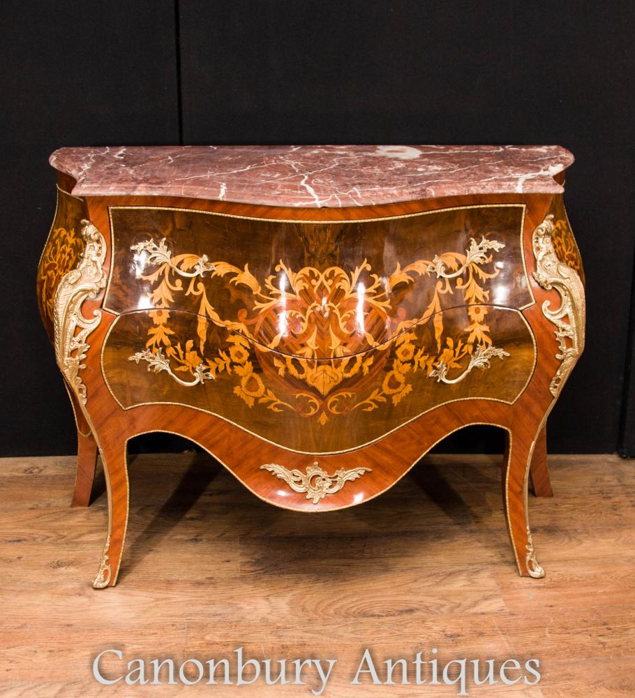 Bombe Commodes - Empire chest drawers - Canonbury Antiques