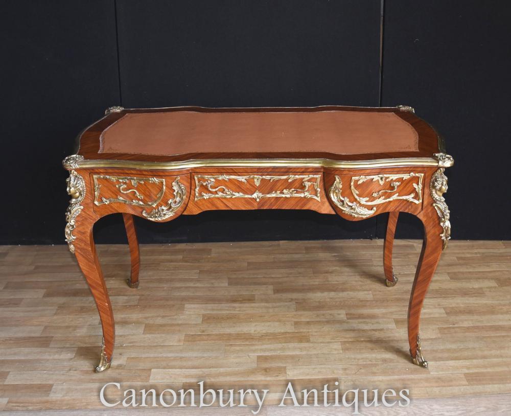 french empire bureau plat desk writing table 1900. Black Bedroom Furniture Sets. Home Design Ideas