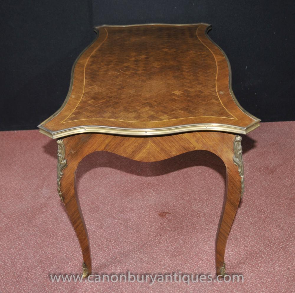 French Parquetry Coffee Table: French Empire Coffee Table Parquetry Inlay Tables