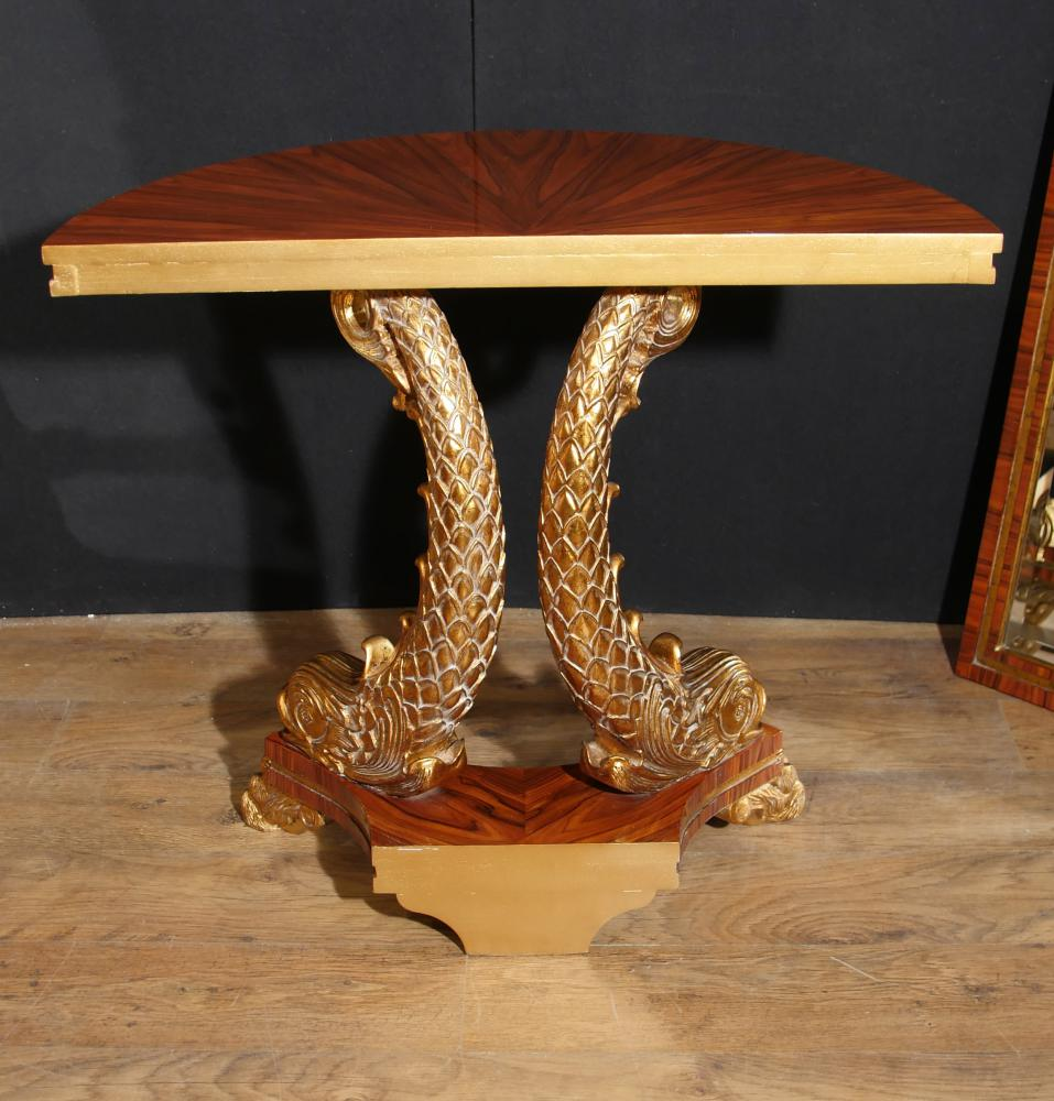 Empire Mirrored Coffee Table: French Empire Console Table And Mirror Set Gilt Serpents