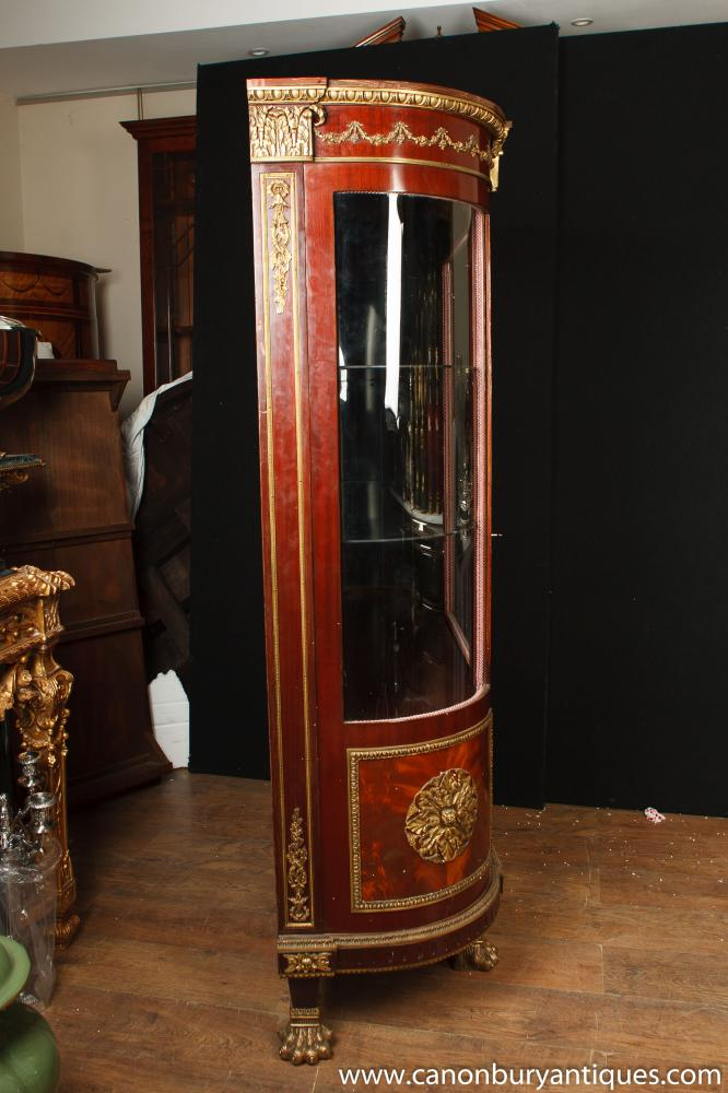 french empire display cabinet vitrine china cabinets bijouterie