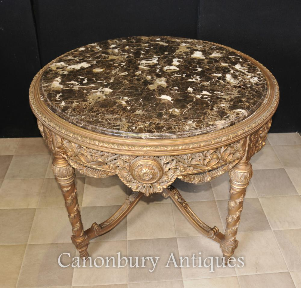 French Empire Gilt Carved Centre Table Center Dining Tables