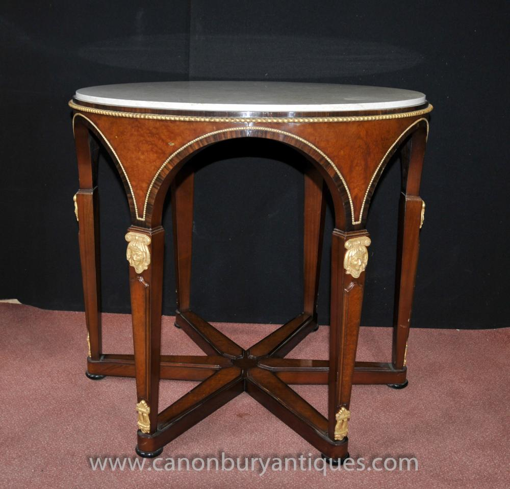 French Empire Round Centre Table Kingwood Tables Ormolu
