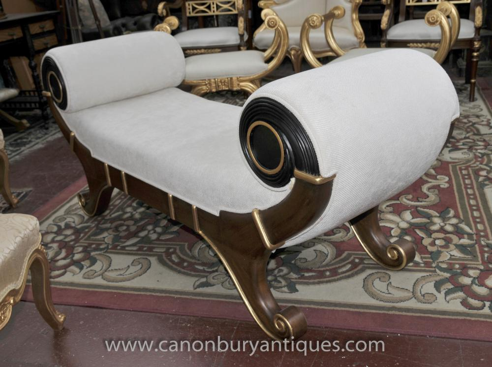 French Empire Stool Chaise Longue Seat Day Bed