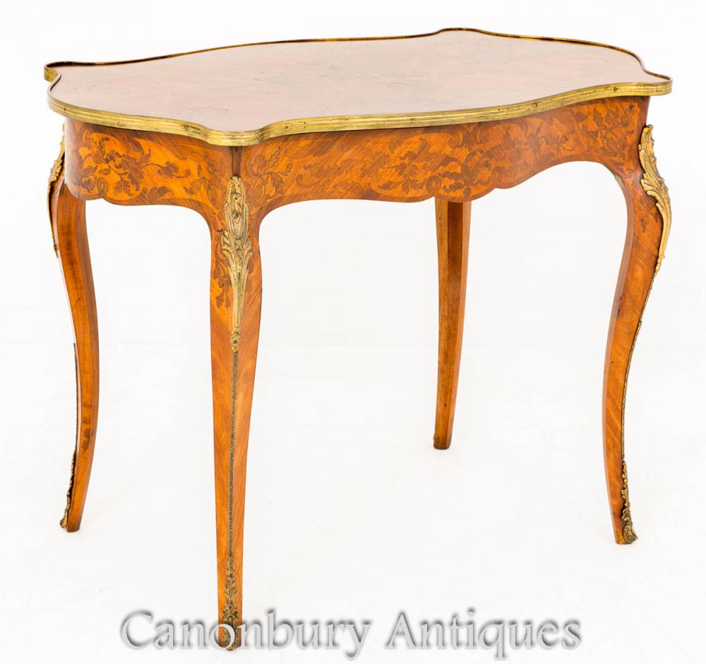French empire writing table desk marquetry inlay bureau ebay for Bureau table