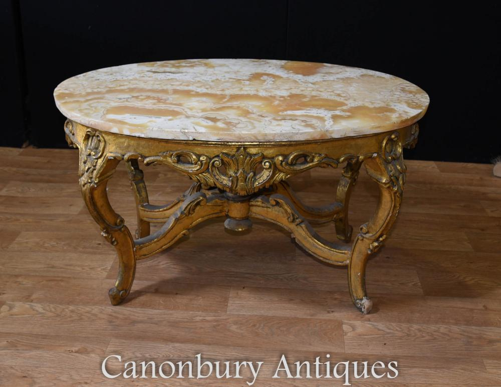 french gilt coffee table oval louis xvi. Black Bedroom Furniture Sets. Home Design Ideas