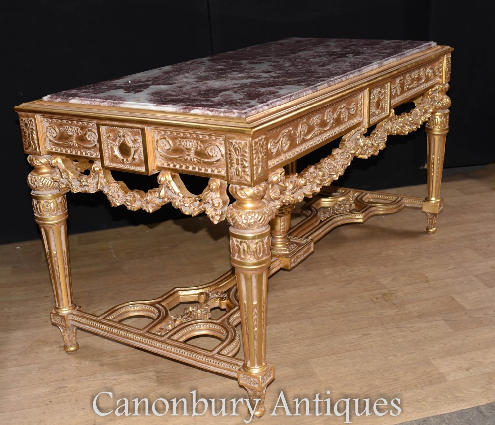 french gilt console table hand carved louis xvi hall tables. Black Bedroom Furniture Sets. Home Design Ideas