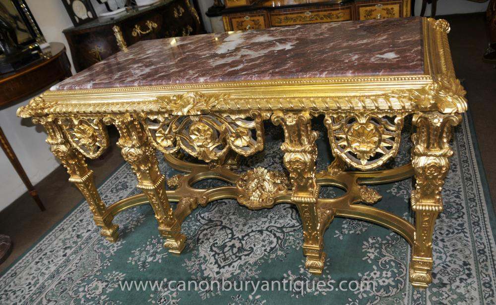 French louis xv gilt console table tables baroque hall - Table baroque conforama ...