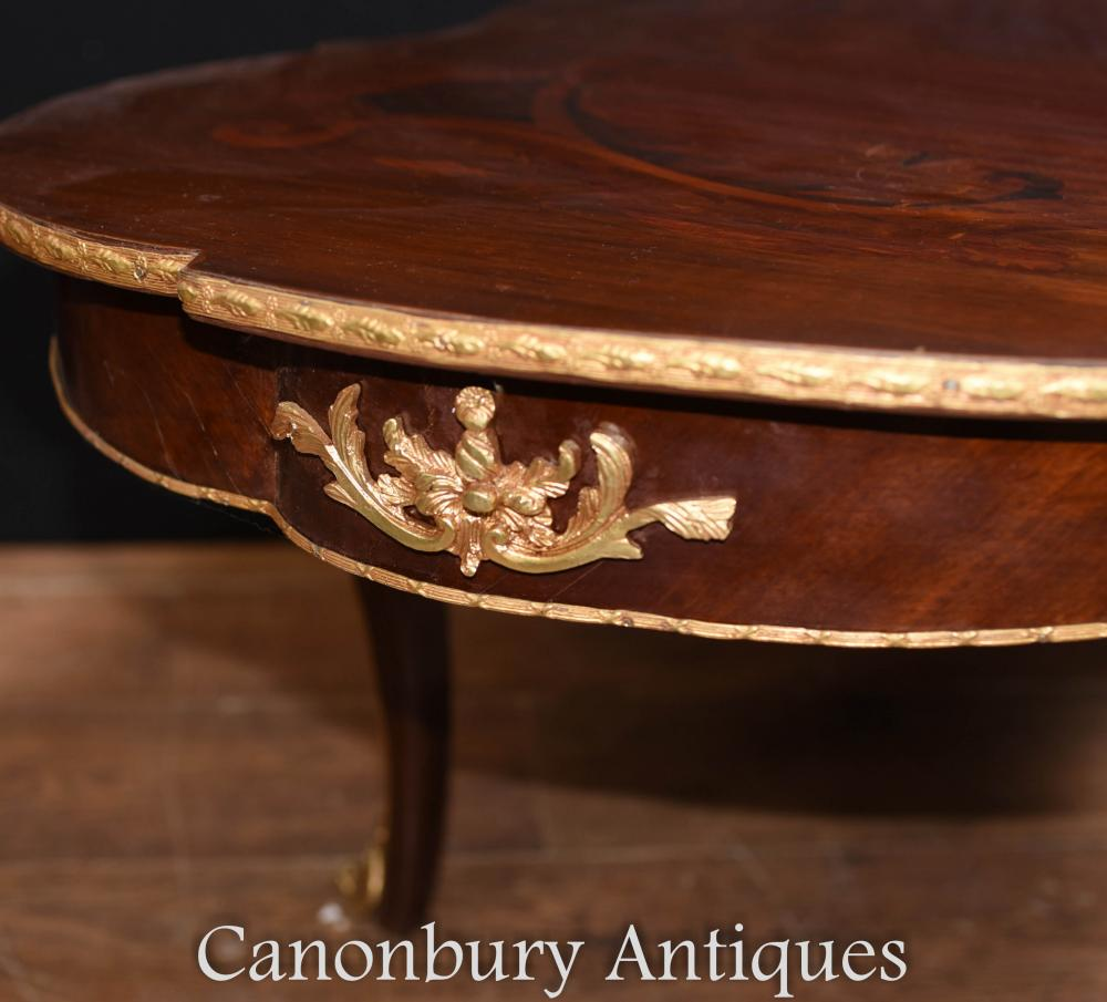French Louis Xv Rococo Coffee Table Shaped Tables