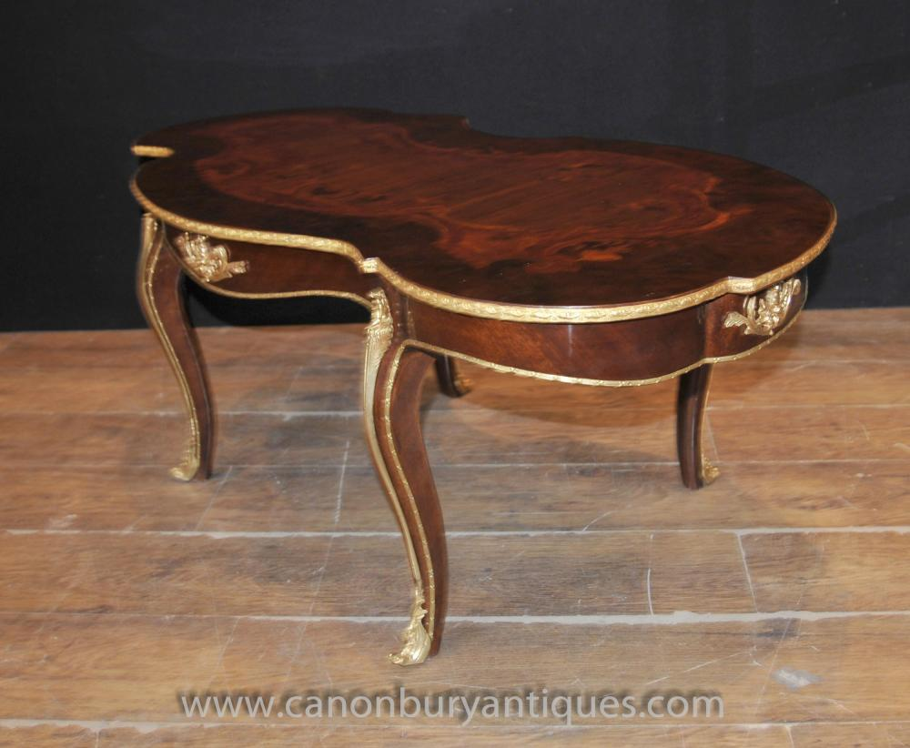 French louis xv rococo coffee table shaped tables - Table louis xv ...