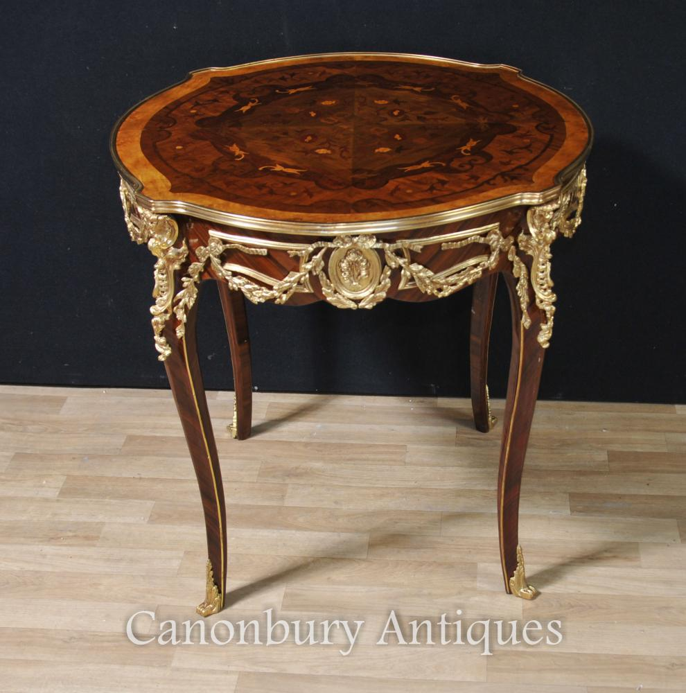 french louis xvi round center table centre side tables. Black Bedroom Furniture Sets. Home Design Ideas