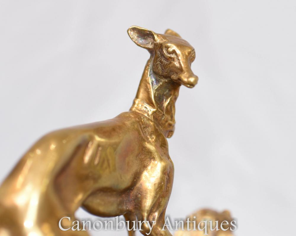 Greyhound Shipping Quote >> French Ormolu Greyhound Dog Spaniel Statue Signed PJ Mene ...