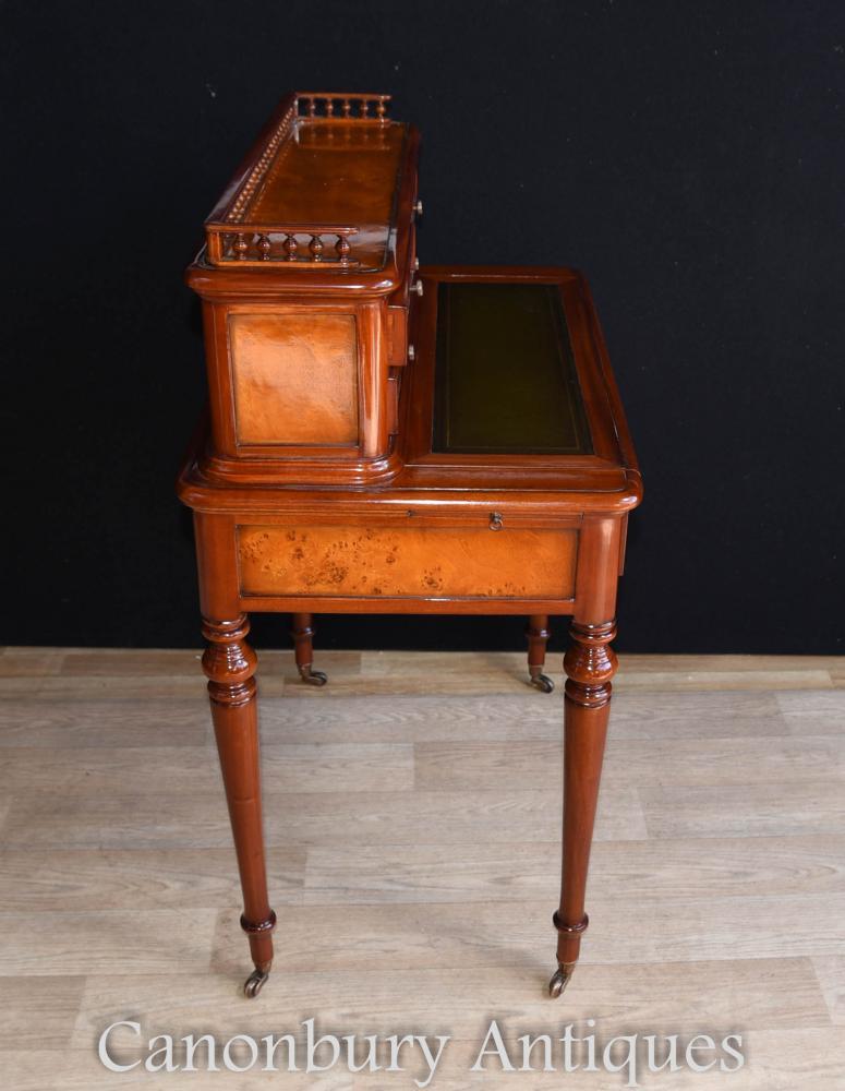 French regency bureau de dame writing desk burr walnut for Bureau in french