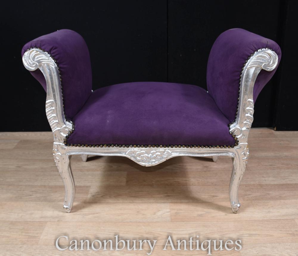 Stupendous French Silver Gilt Stool Window Seat Louis Xvi Theyellowbook Wood Chair Design Ideas Theyellowbookinfo