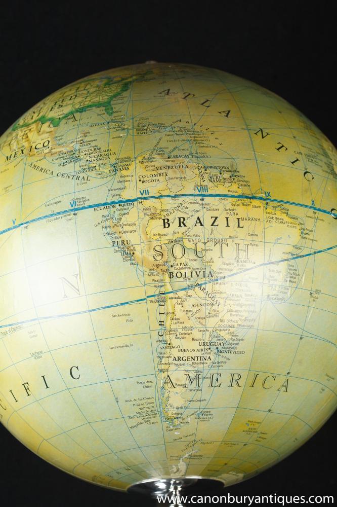 french silver plate globe world map terrestre. Black Bedroom Furniture Sets. Home Design Ideas