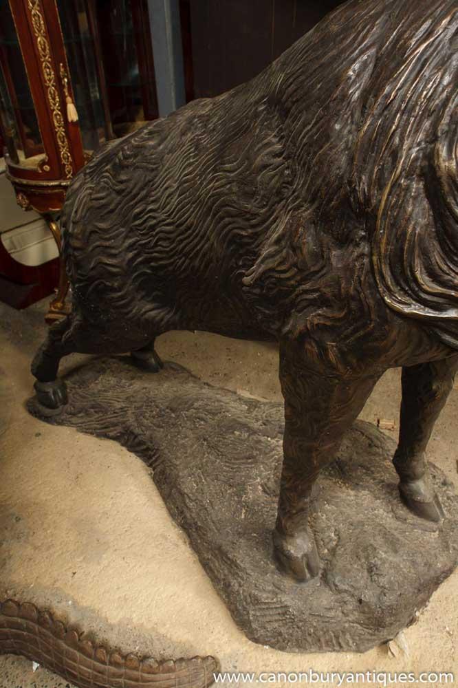 Gigantic Bronze Stag Statue Casting Antlers Moose Elk Deer