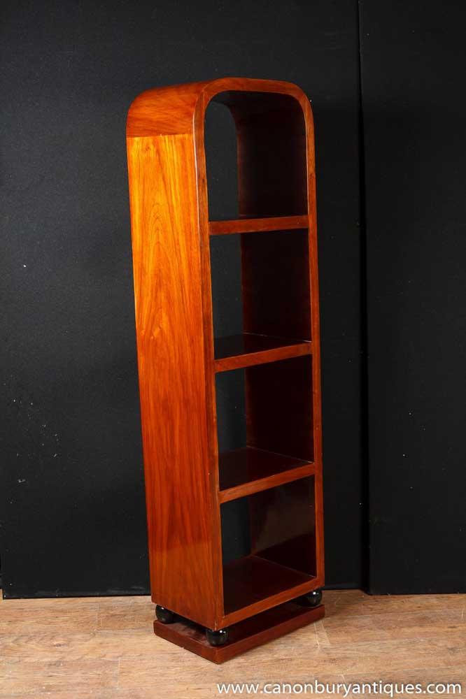 Art Deco Bookcase Shelf Unit Rosewood