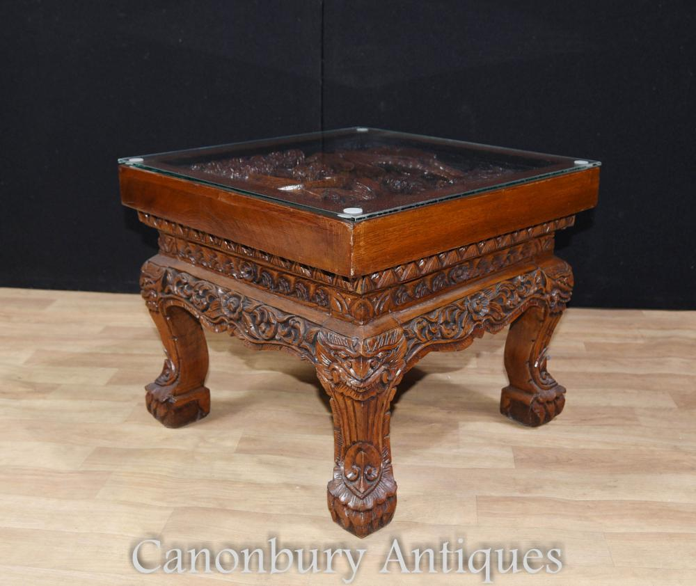 Hand Carved Coffee Tables ~ Hand carved chinese hardwood chairs and coffee table set