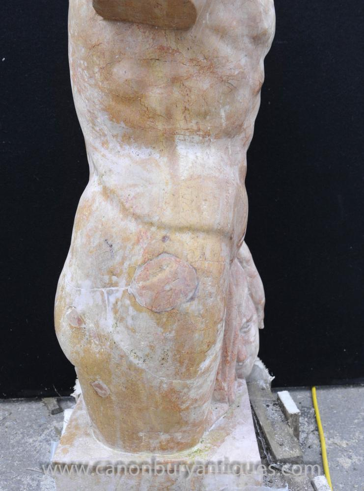 Italian Marble Statue Torso Head Medusa Myth Art