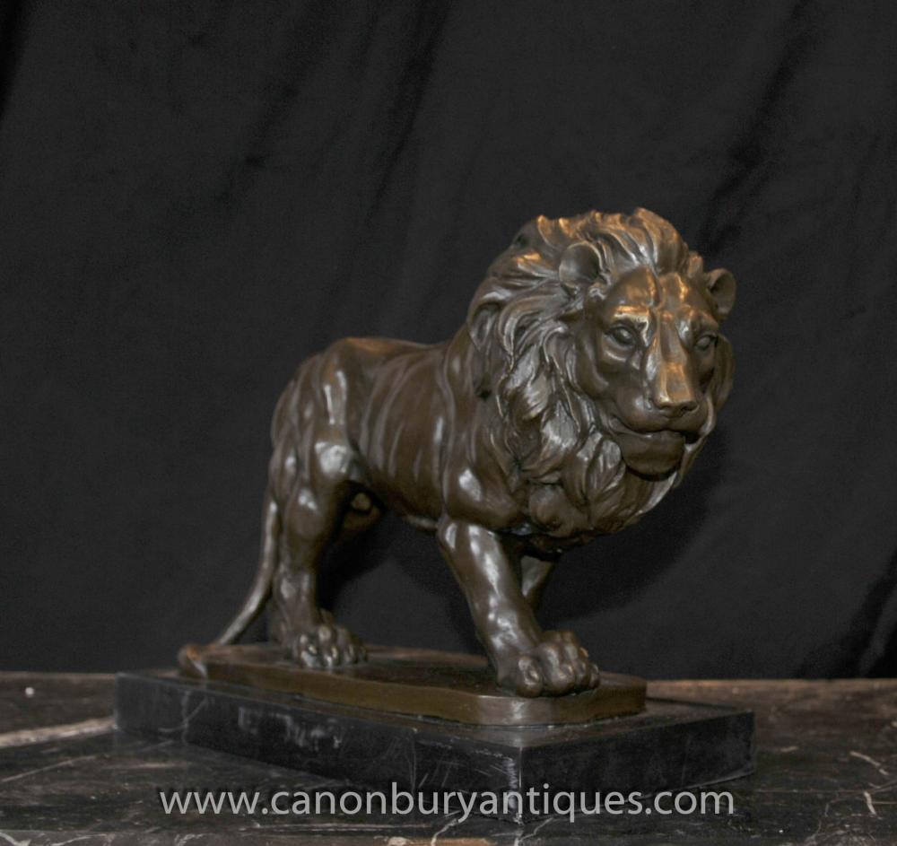 Italian Bronze Lion Statue Signed Giainbologna Animals