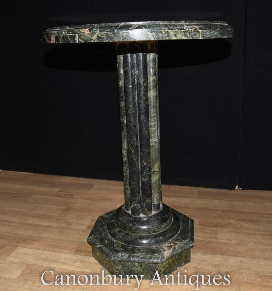 Inlay Coffee Table ~ Italian tuscan marble round side table inlay cocktail tables