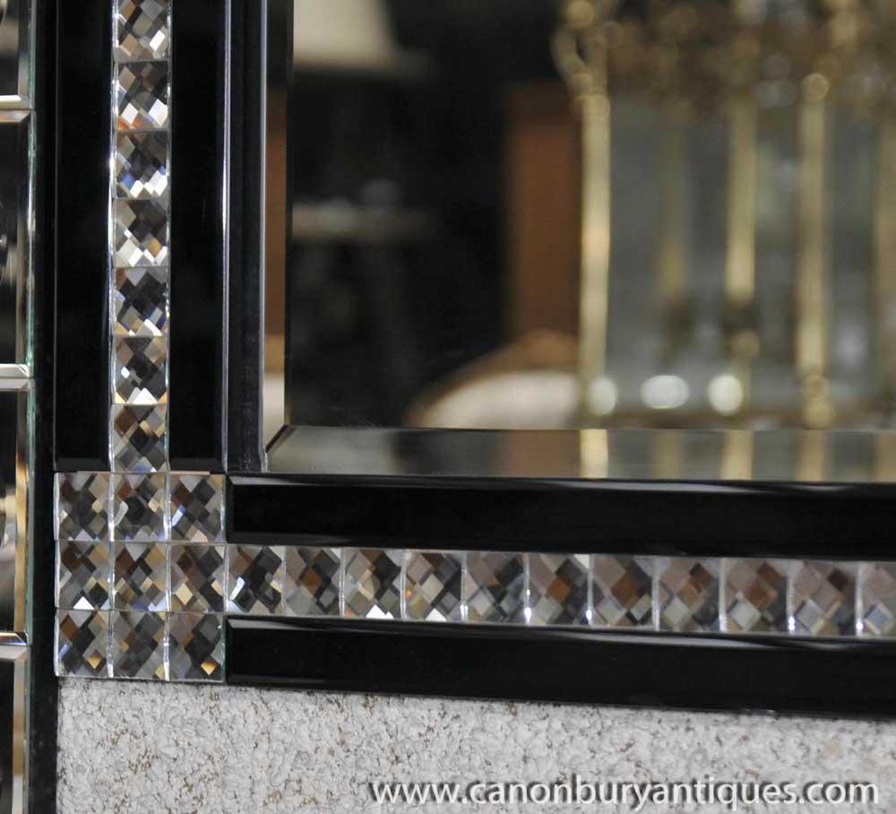 large art deco glass pier mirror mirrors mantle. Black Bedroom Furniture Sets. Home Design Ideas