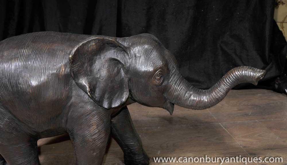 Large Bronze Elephant Statue Architectural Garden Art