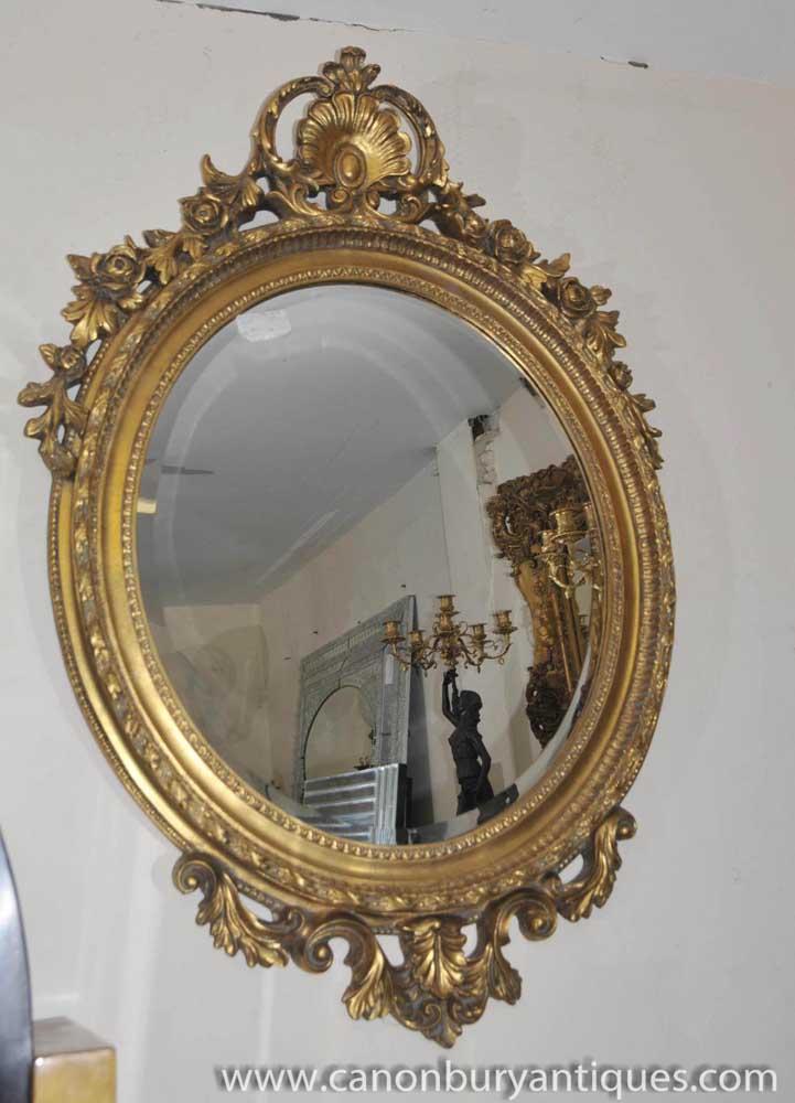 Large French Louis Xv Gilt Pier Mirror Rococo Mirrors