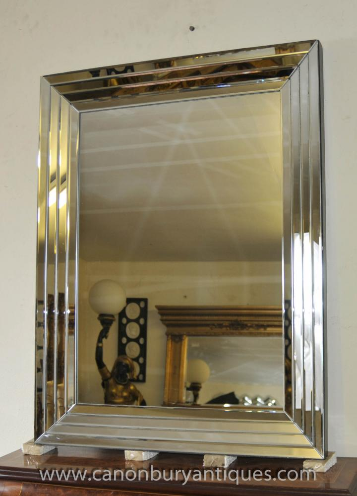 Large Glass Art Deco Mirror 1920s Interiors