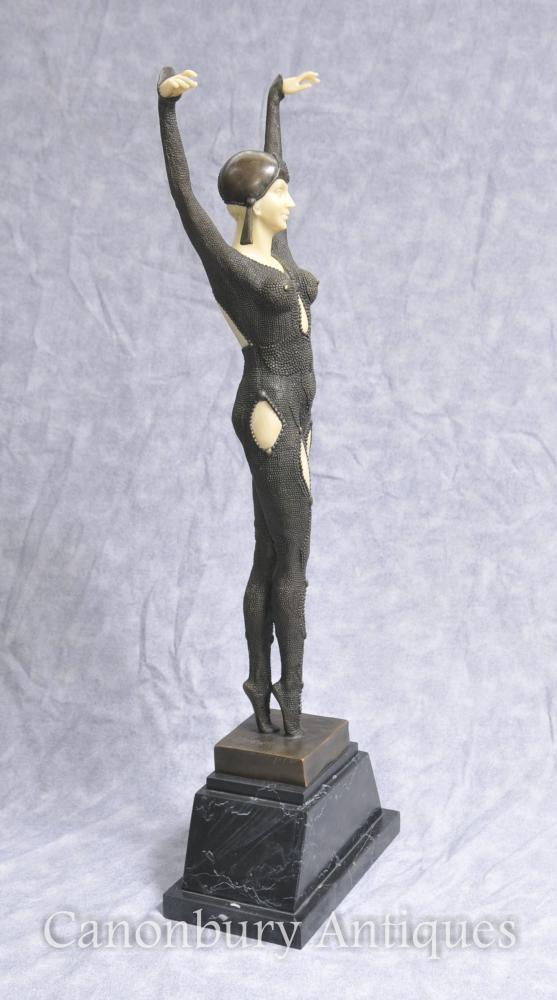 Large Bronze Art Deco Chiparus Starfish Dancer Statue