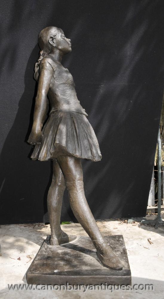 Large Bronze Degas Ballerina Girl Statue Figurine Ballet