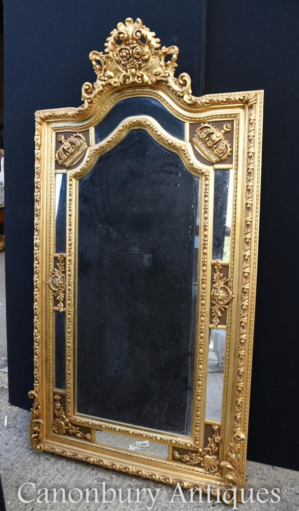 Large English George Ii Gilt Pier Mirror